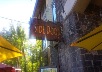 side door pet friendly restaurant mammoth lakes